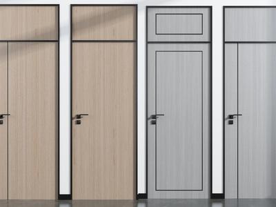 现代单开门 室内门3d模型