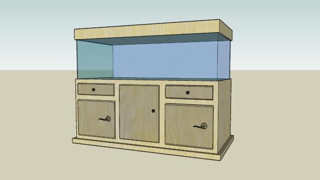 水族馆套装-奶油主题 柜子 家具 书桌