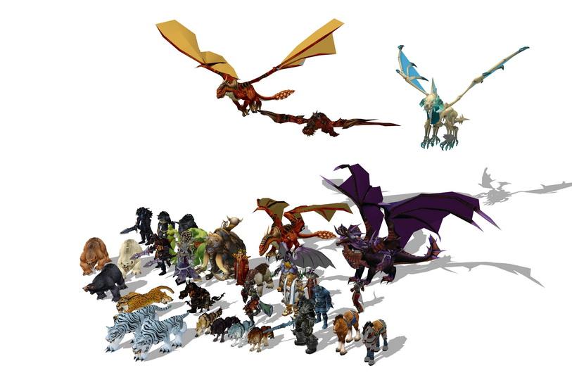魔兽世界3D游戏人物SU模型