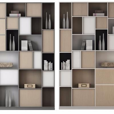 现代实木装饰柜3D模型
