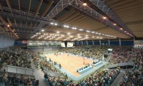 现代体育馆篮球场3D模型