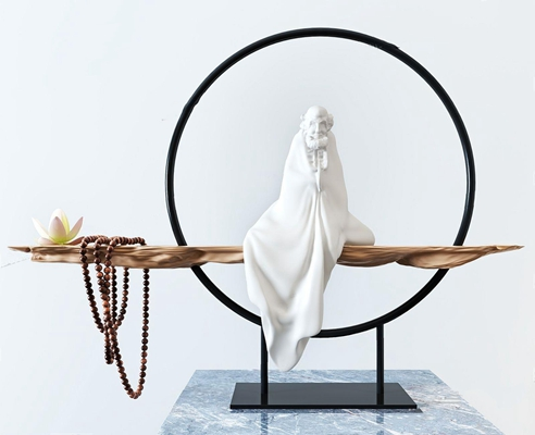 新中式装饰品摆件 新中式装饰品 摆件 佛像摆件 星月菩提挂件