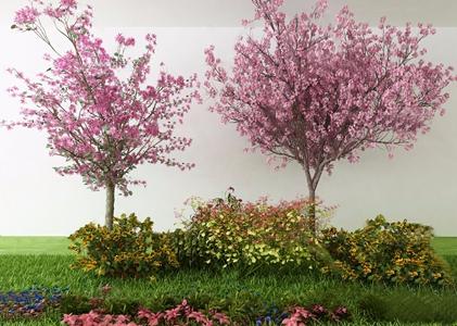 现代树木花草绿植3d模型