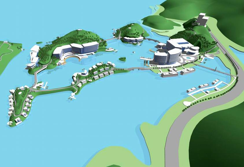 千岛湖度假酒店SU模型