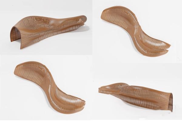 现代异形公用椅3d模型