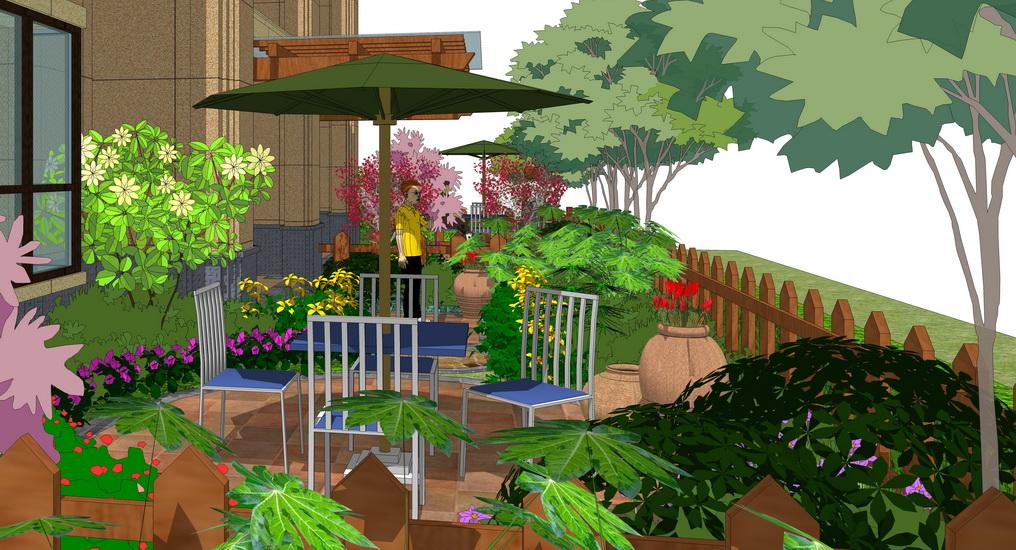 私家花园景观SU模型