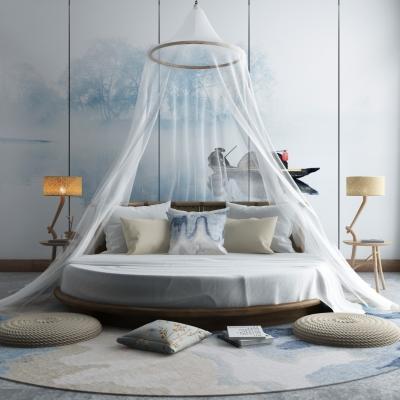现代圆床3d模型