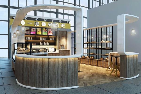 工业风一鸣餐饮 工业风餐饮 奶茶店 面包店 一鸣餐饮 店面 店铺 吧台 吧凳 面包柜 吊灯
