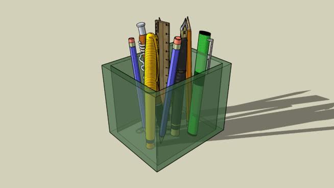 玻璃台式工具机 卷笔刀 铅笔 笔 筷子 饰品