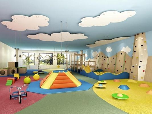 幼儿园体能活动室 幼儿园 活动室 攀爬墙 玩具