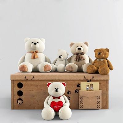儿童熊玩具摆设 儿童玩具 熊玩具 收纳盒