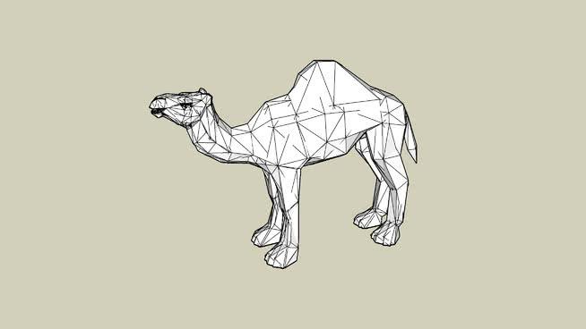 Dromedary Camel(成人) 画 其他 阿拉伯骆驼 家居物品 美女