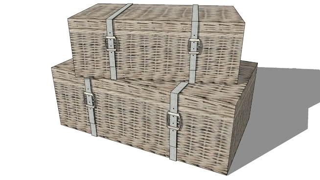sj+行李01 杂物筐 板条箱(木箱) 篮子 箱子