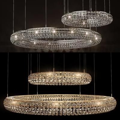 现代豪华轻奢水晶吊灯组合3D模型