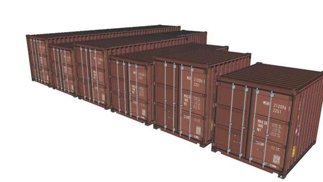 集装箱10, 20和40英尺+高立方体版本 柜子