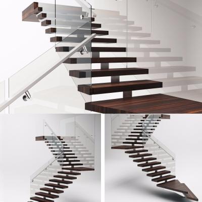 现代拐角楼梯3D模型