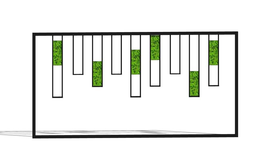 绿植墙屏风隔断SU模型