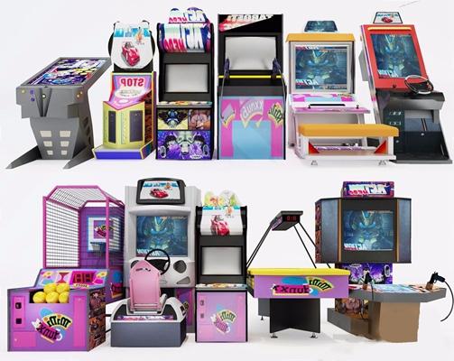 游戏机设备组合 现代体娱器材 游戏机 设备