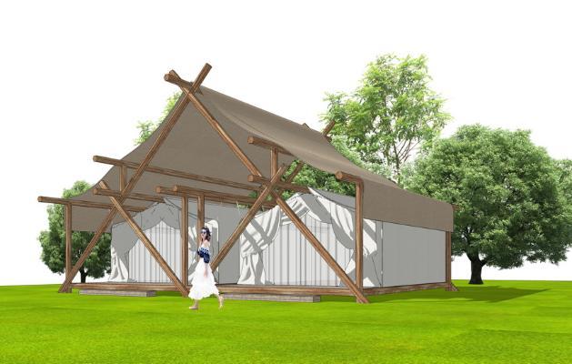 帐篷酒店SU模型
