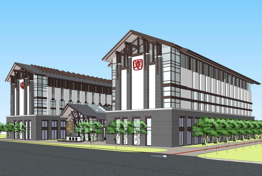 新中式酒店SU模型