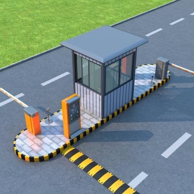 现代入口道闸岗亭3D模型