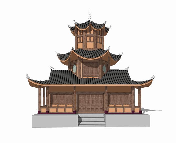 文昌阁SU模型