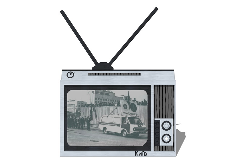 旧电视机SU模型
