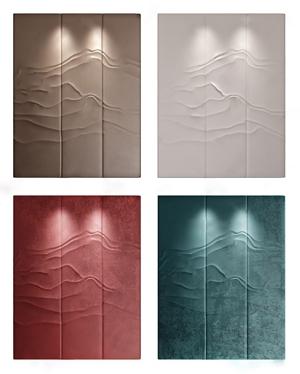 抽象山水硬包 新中式墙饰 硬包