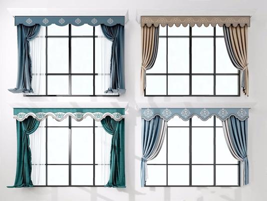 欧式窗帘 简欧窗帘 美式窗帘 欧式客厅餐厅