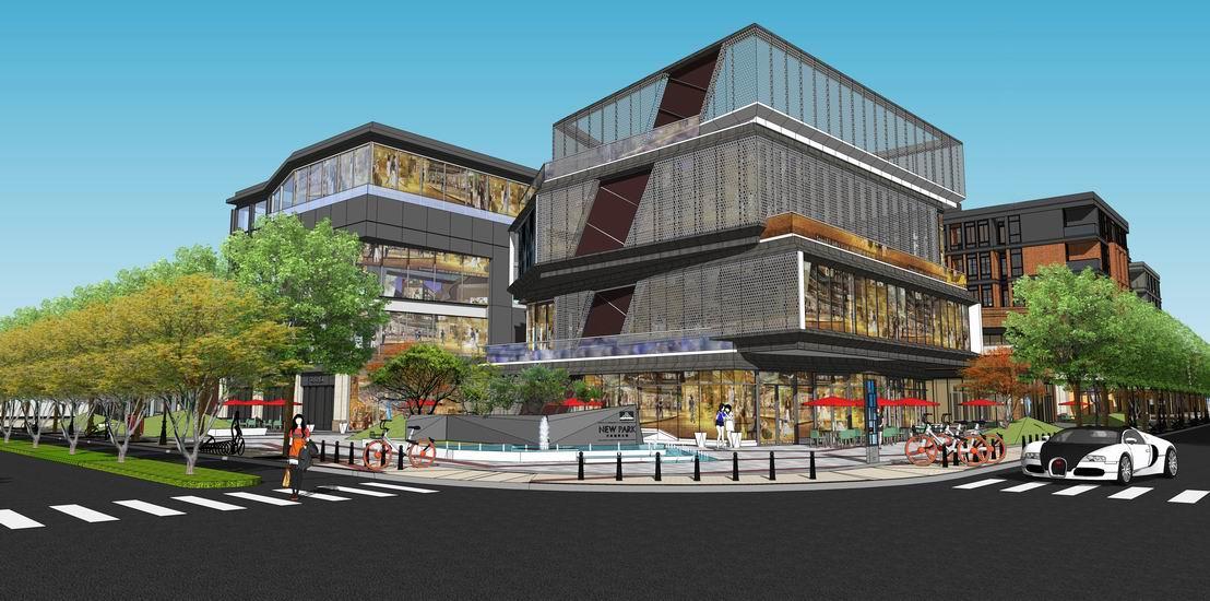 商业中心景观SU模型