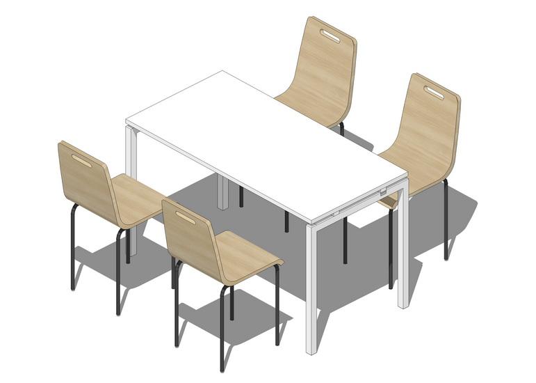 简约餐桌SU模型