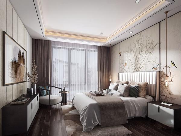 新中式�P室3d模型