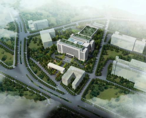 现代行政府办公楼 建筑外观