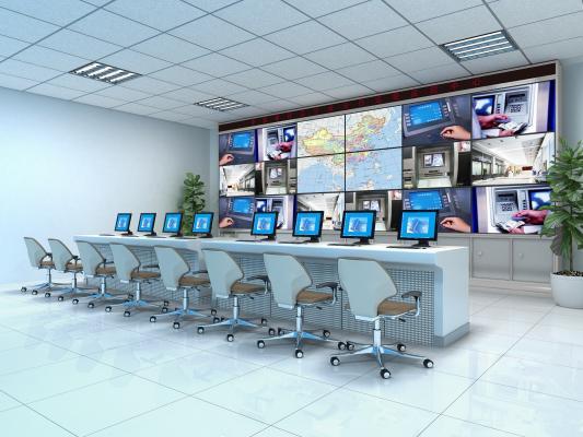 现代监控室 值班室