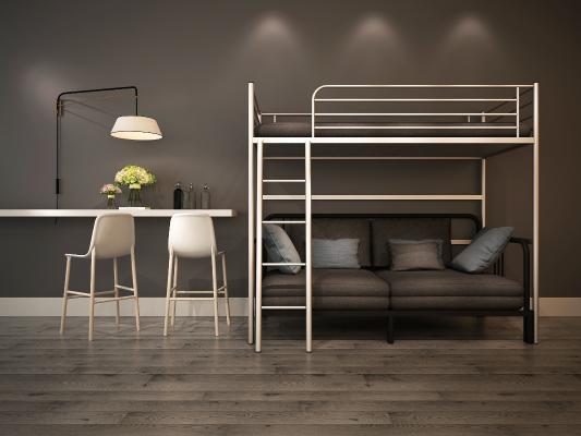 現代高架床沙發床組合