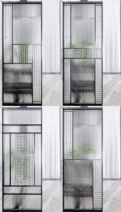 现代玻璃铁艺隔断