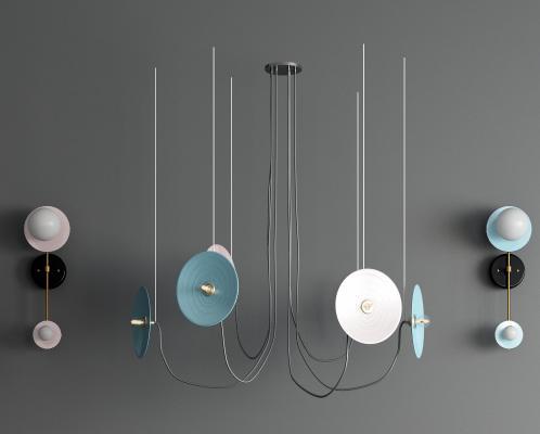 現代裝飾吊燈壁燈 輕奢金屬吊燈 燈泡吊燈