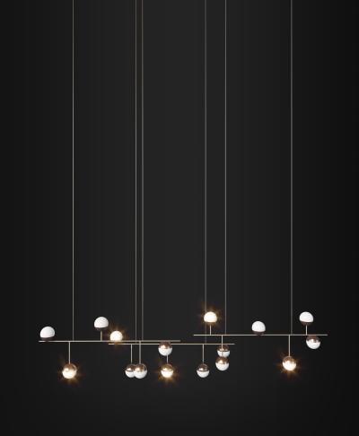 现代大型工装吊灯