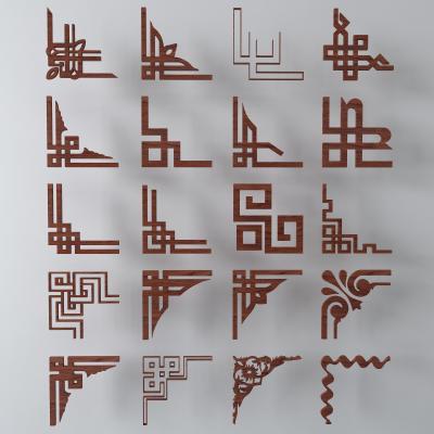 传统中式雕花隔断格栅