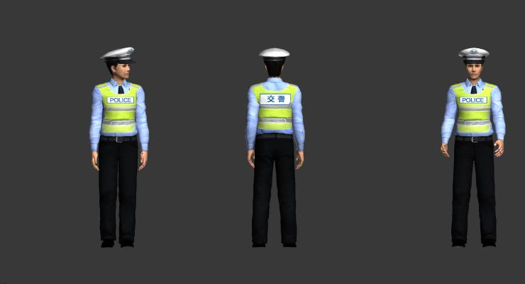 现代交警人物