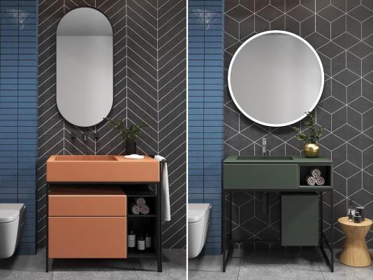 现代铁艺浴室柜组合
