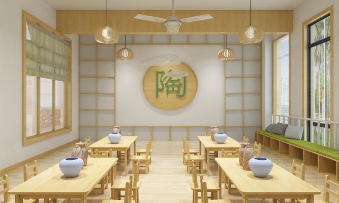 日式学校教室 陶艺教室