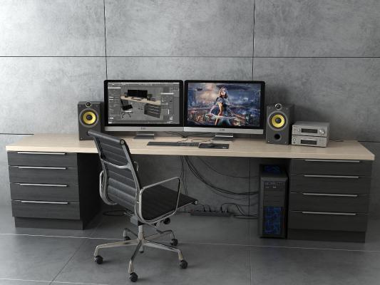 现代电脑桌 电脑