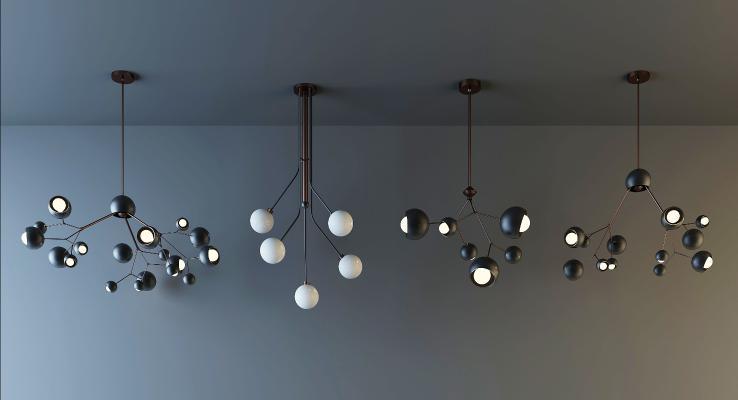 现代时尚吊灯灯具组合