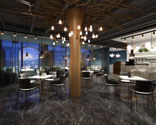 现代风格咖啡厅 休息室