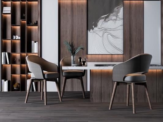 现代简约北欧吧台餐座椅组合