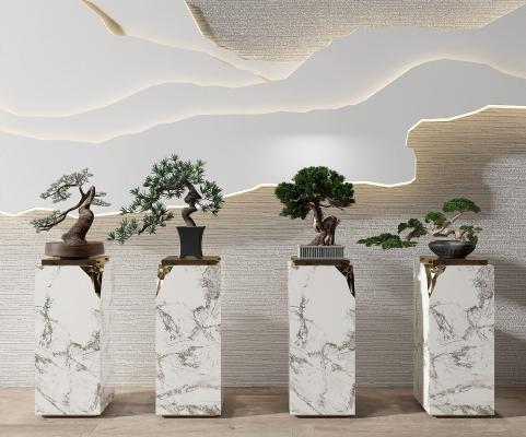 新中式盆景綠植組合