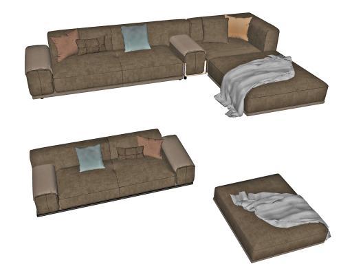 现代组合沙发 多人沙发 客厅沙发