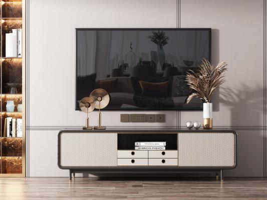 现代轻奢电视柜 摆件组合 摆件