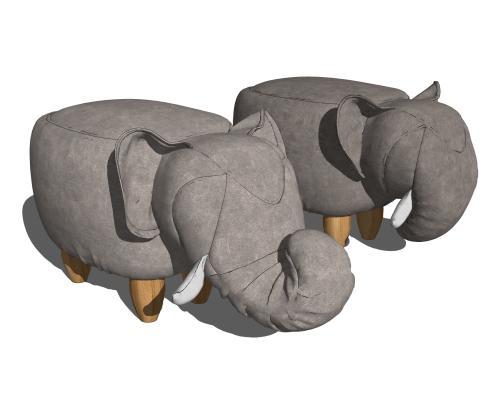 现代大象矮凳 脚踏